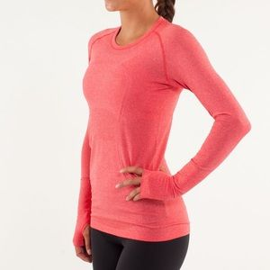 Lululemon Run: Swiftly Tech Long Sleeve Currant